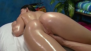 Nadia tempted and fucked hard by her massage therapist