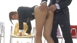 Because she`s a lengthy legs beauty with a tight sexy ass this Asian harlot is attracting men and asks for it! She stays there bent over and obedient as this man slowly fingers her tight anus and then uses a sex toy for more pleasure. Her hole acquires wi