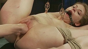 Sweet cutie Sensi Pearl has unforgettable lezdom experience as a serf girl. She gets her twat fist fucked ad takes dildo of her mistress Bobbi Starr. Bobbi Starr is a femdom pro!