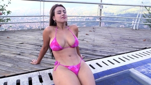 Curvy Colombian close off out of one's mind thick phat ass increased off out of one's mind big tits